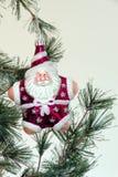 Árbol de navidad Santa Fotos de archivo