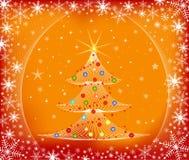 Árbol de navidad - vector Foto de archivo