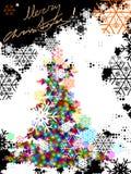 Árbol de navidad, vector Imágenes de archivo libres de regalías