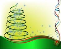 Árbol de navidad verde abstracto Imágenes de archivo libres de regalías