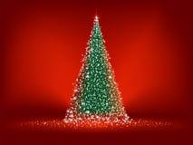 Árbol de navidad verde abstracto. EPS 8 Foto de archivo libre de regalías
