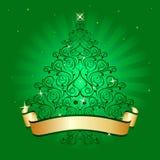 Árbol de navidad verde claro Imagen de archivo