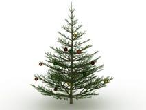 Árbol de navidad verde con los juguetes Foto de archivo