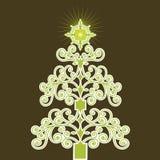 Árbol de navidad verde de la bobina ilustración del vector