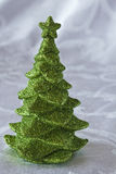 Árbol de navidad verde del brillo Fotografía de archivo