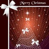 Árbol de navidad y cintas Foto de archivo