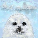 Árbol de navidad y conejo blanco Imagen de archivo