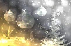 Árbol de navidad y ornamentos Imagen de archivo