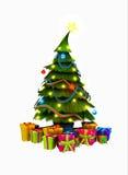 Árbol de navidad y presentes Fotografía de archivo libre de regalías