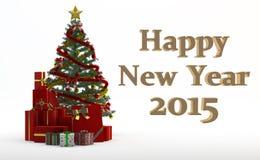Árbol de navidad y regalos Imagenes de archivo