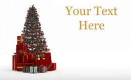 Árbol de navidad y regalos Foto de archivo libre de regalías