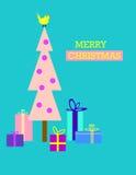 Árbol de navidad y regalos Fotografía de archivo libre de regalías