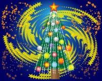 Árbol de navidad y una estrella Imagen de archivo