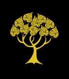 Árbol de oro abstracto Fotografía de archivo libre de regalías