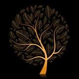 Árbol de oro hermoso para su diseño libre illustration