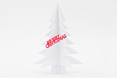 Árbol de papel de la Navidad Foto de archivo