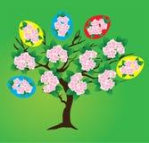 Árbol de Pascua del vector ilustración del vector