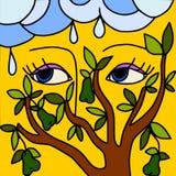 Árbol de pera Imagen de archivo libre de regalías