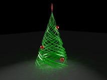 Árbol de pino estilizado rendido de la Navidad Imagenes de archivo