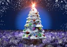 Árbol de pino helado Fotos de archivo libres de regalías