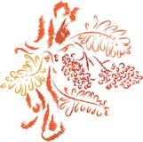Árbol de serbal del otoño Imagen de archivo