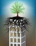 Árbol de Towerblock stock de ilustración