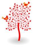 Árbol de Vatentine con el corazón Fotografía de archivo