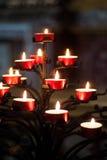 Árbol de velas rojas Foto de archivo libre de regalías