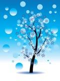 Árbol decorativo del invierno stock de ilustración