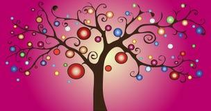 Árbol decorativo del vector ilustración del vector