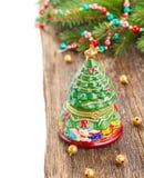 Árbol del árbol de hoja perenne de la Navidad Foto de archivo libre de regalías
