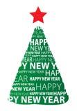 Árbol del Año Nuevo Fotos de archivo libres de regalías