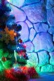 Árbol del Año Nuevo adornado Foto de archivo libre de regalías