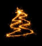 Árbol del Año Nuevo con una estrella Foto de archivo