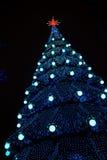 Árbol del Año Nuevo de la ciudad Foto de archivo libre de regalías