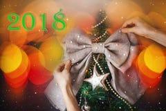 Árbol del Año Nuevo de la Navidad Foto de archivo