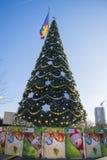 Árbol del Año Nuevo el día soleado Imagenes de archivo