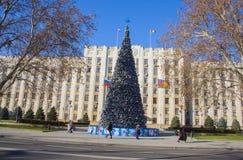 Árbol del Año Nuevo en Krasnodar Foto de archivo libre de regalías