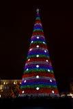 Árbol del Año Nuevo en la noche Imagen de archivo libre de regalías