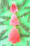 Árbol del Año Nuevo hecho de la sandía con las semillas La Navidad del Año Nuevo Fotos de archivo libres de regalías