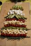 Árbol del Año Nuevo para la comida imágenes de archivo libres de regalías