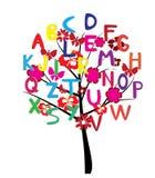 Árbol del alfabeto ilustración del vector