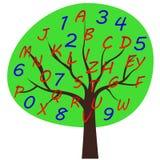 Árbol del alfabeto de la escuela Imagen de archivo libre de regalías