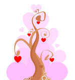 Árbol del amor Fotos de archivo