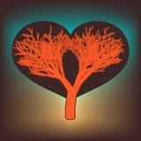 Árbol del amor con los corazones. EPS 8 Imágenes de archivo libres de regalías