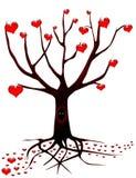 Árbol del amor con los ojos Imagenes de archivo