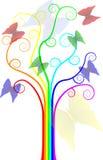 Árbol del arco iris Fotos de archivo