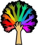 Árbol del arco iris de la diversidad Foto de archivo libre de regalías