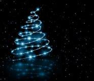Árbol del azul de la Navidad Fotografía de archivo