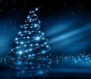 Árbol del azul de la Navidad Imagenes de archivo